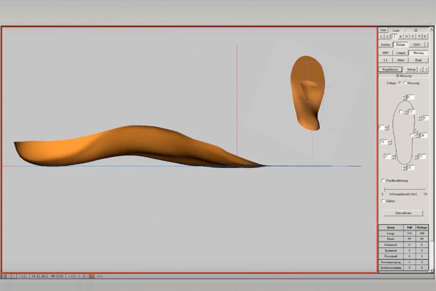 Maßeinlagenherstellung – CAD-Prozess